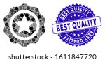 mosaic best quality icon and... | Shutterstock .eps vector #1611847720
