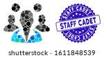 collage staff icon and rubber... | Shutterstock .eps vector #1611848539