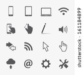 computer vector icons set   Shutterstock .eps vector #161184899
