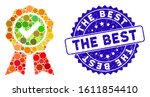 mosaic the best icon and rubber ... | Shutterstock .eps vector #1611854410