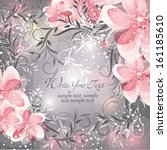 wedding card or invitation with ... | Shutterstock .eps vector #161185610
