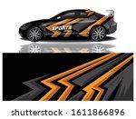sport car decal wrap vector... | Shutterstock .eps vector #1611866896