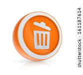 trash can icon.isolated on...