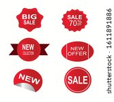 price tags vector collection.... | Shutterstock .eps vector #1611891886