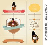 vector set  vintage happy... | Shutterstock .eps vector #161189570