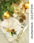 beautiful christmas setting ...   Shutterstock . vector #161197244