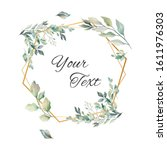 floral vector card design with... | Shutterstock .eps vector #1611976303