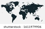 colorful vector world map.... | Shutterstock .eps vector #1611979906