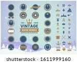 vintage retro vector for banner ... | Shutterstock .eps vector #1611999160