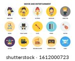 entertainment icons set for... | Shutterstock .eps vector #1612000723