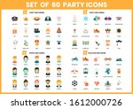 party icons set for business ... | Shutterstock .eps vector #1612000726