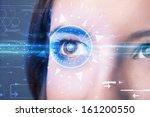 modern cyber girl with... | Shutterstock . vector #161200550