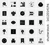 25 universal icons vector... | Shutterstock .eps vector #1612014196