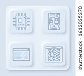 set line processor with...   Shutterstock .eps vector #1612035370