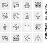 16 business universal icons... | Shutterstock .eps vector #1612037959