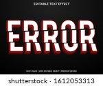error text effect template with ... | Shutterstock .eps vector #1612053313