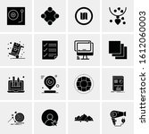 16 business universal icons... | Shutterstock .eps vector #1612060003