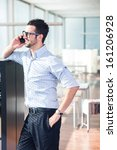 modern businessman with glases... | Shutterstock . vector #161206928