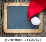 Christmas Card Blank With Sant...