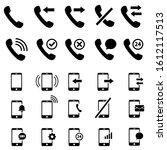 set of phone or smartphone... | Shutterstock .eps vector #1612117513