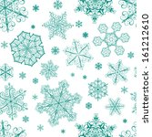 christmas seamless pattern from ... | Shutterstock .eps vector #161212610