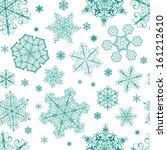 christmas seamless pattern from ... | Shutterstock .eps vector #161212610