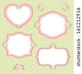 set of different vintage floral ... | Shutterstock .eps vector #161212916