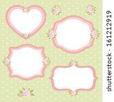 set of different vintage floral ... | Shutterstock . vector #161212919