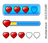 progress bar set with hearts