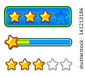 progress bar set with stars