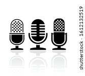 microphone vector icons set...   Shutterstock .eps vector #1612132519