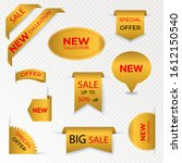 set of price tags and sale... | Shutterstock .eps vector #1612150540
