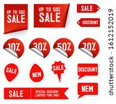 price tag and best sale... | Shutterstock .eps vector #1612152019