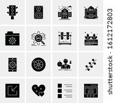 16 business universal icons... | Shutterstock .eps vector #1612172803