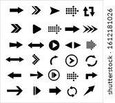 arrows big black set icons.... | Shutterstock .eps vector #1612181026