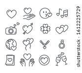 set of love or heart symbol for ...   Shutterstock .eps vector #1612225729