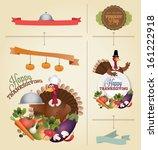 vector set  vintage happy... | Shutterstock .eps vector #161222918