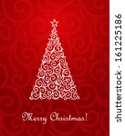 christmas tree. vector... | Shutterstock .eps vector #161225186