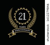 21st anniversary logo with gold ... | Shutterstock .eps vector #1612279846