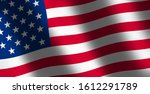 waving flag of united states of ... | Shutterstock . vector #1612291789