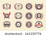 achievement badges for games or ... | Shutterstock .eps vector #161235776