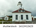 The Point Wilson Lighthouse was Built in 1913 in Port Townsend, Washington, USA