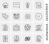 16 business universal icons... | Shutterstock .eps vector #1612419019