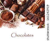 delicious chocolates and spices ... | Shutterstock . vector #161242919