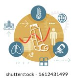 asthama management and... | Shutterstock .eps vector #1612431499