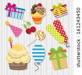 birthday element set | Shutterstock .eps vector #161243450