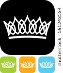 Crown vector isolated