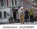 01 08 2019 Riga  Latvia. Gray...