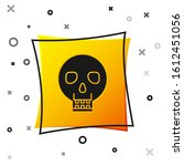 Black Skull Icon Isolated On...