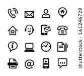 web icon set   contact us  | Shutterstock .eps vector #161246729